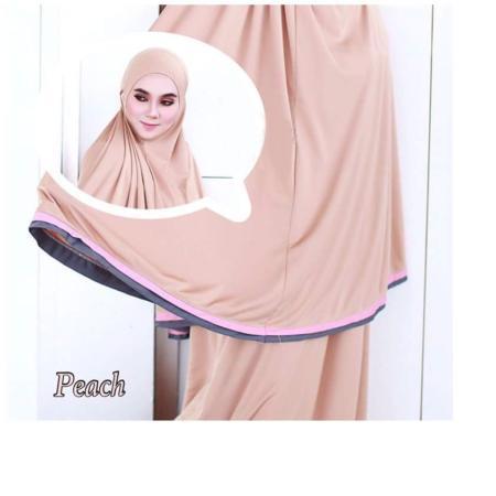 Telekung Raudah - Peach