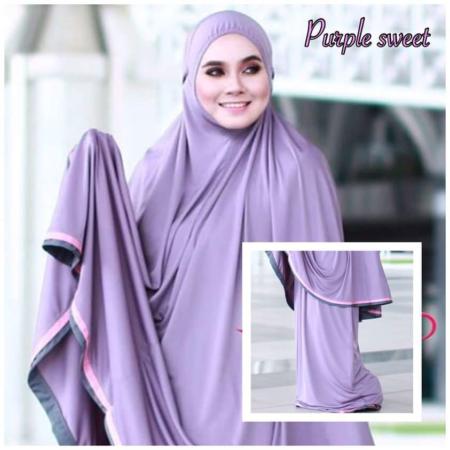 Telekung Raudah - Purple Sweet