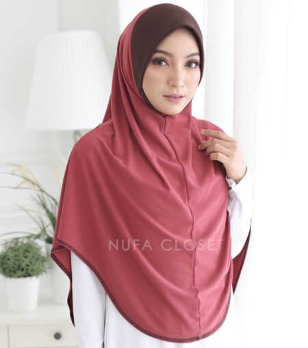 Tudung Instant XL Zinnirah Exclusive - Berry