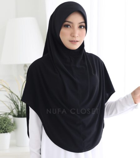 Tudung Instant XL Zinnirah Exclusive - Black
