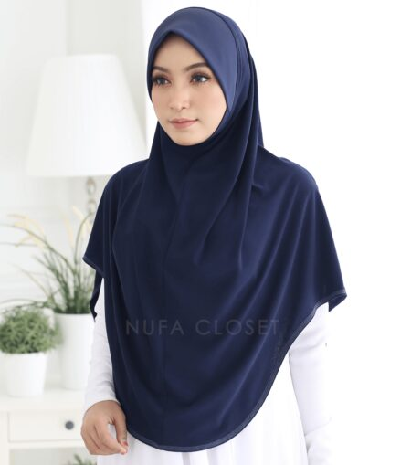 Tudung Instant XL Zinnirah Exclusive - Blue Black