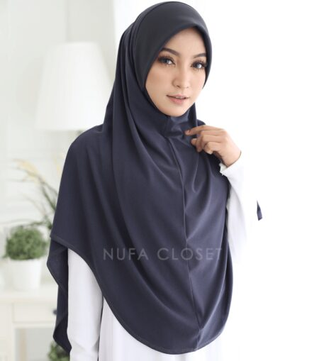Tudung Instant XL Zinnirah Exclusive - Dark Grey