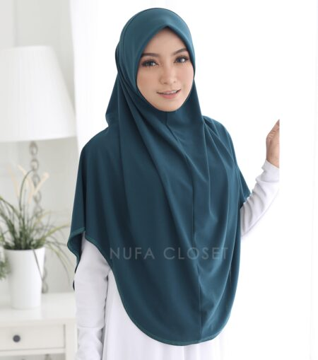 Tudung Instant XL Zinnirah Exclusive - Forest Green
