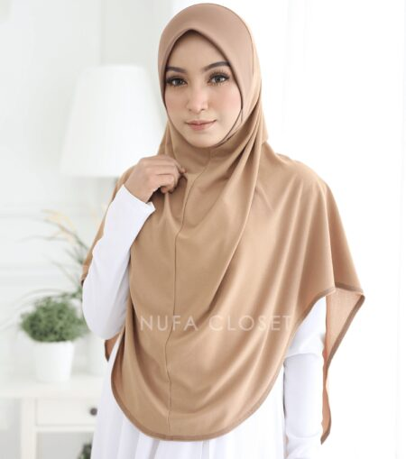 Tudung Instant XL Zinnirah Exclusive - Gold