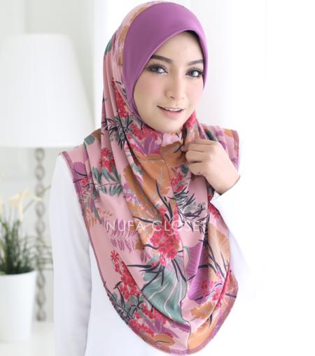 Tudung Instant Muslimah Berdagu Zulaikha Exclusive - Heather