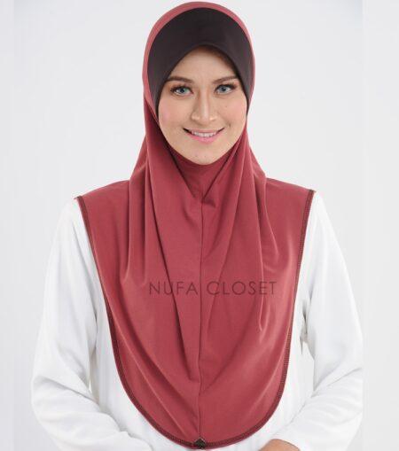 Tudung Instant Muslimah Khadijah - Berry