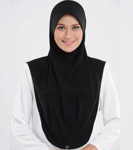 Tudung Instant Muslimah Khadijah - Black