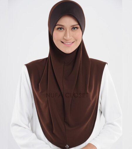 Tudung Instant Muslimah Khadijah - Chocolate
