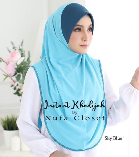 Tudung Instant Muslimah Khadijah - Sky Blue