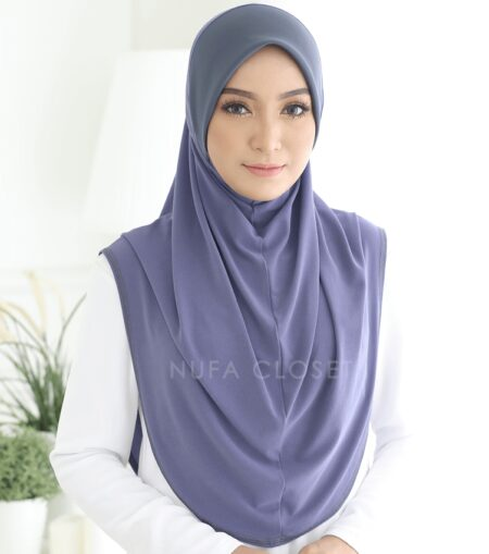 Instant Humairah Exclusive - Blue Grey