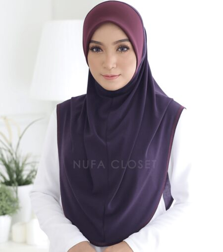 Instant Humairah Exclusive - Dark Purple