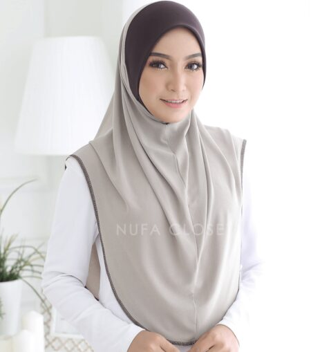 Tudung Instant XL Zinnirah Exclusive - Latte
