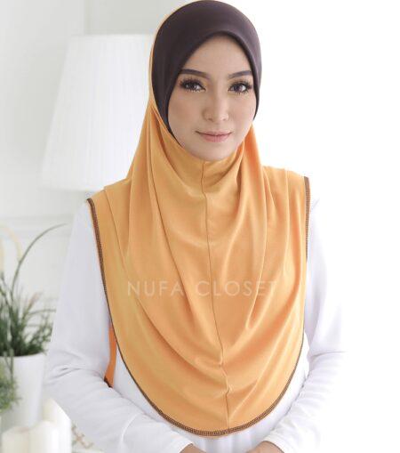 Tudung Instant XL Zinnirah Exclusive - Mustard