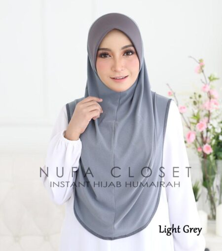 Instant Humairah Exclusive - Light Grey