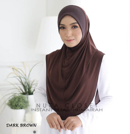 Instant Humairah Exclusive - Dark Brown