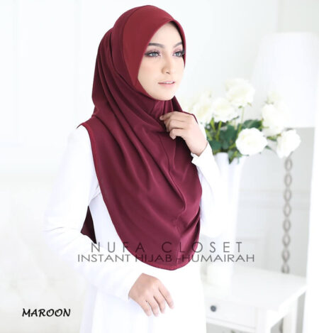 Instant Humairah Exclusive - Maroon