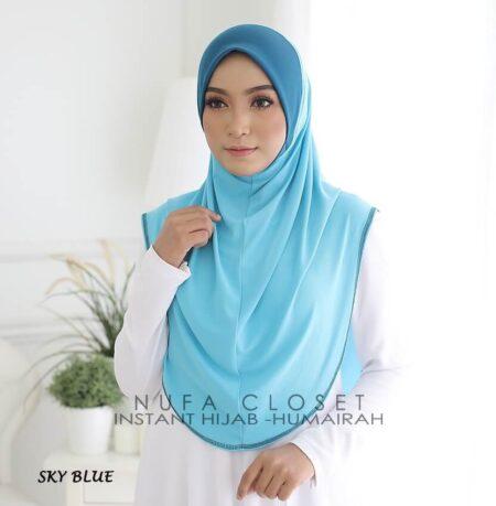 Tudung Instant XL Zinnirah Exclusive - Sky Blue