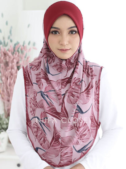Tudung Instant Aisyah Exclusive  Tanpa Dagu - Saponaria