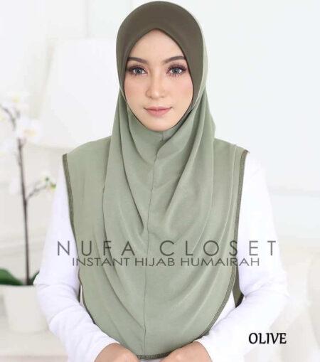Tudung Instant XL Zinnirah Exclusive - Olive