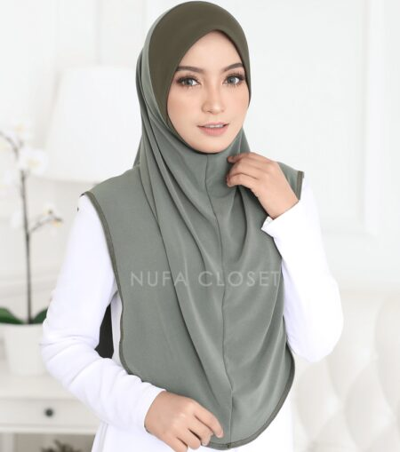 Instant Humairah Exclusive - Army Green