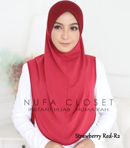 Instant Humairah Exclusive - Strawberry Red R2