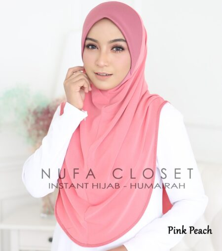 Instant Humairah Exclusive - Pink Peach