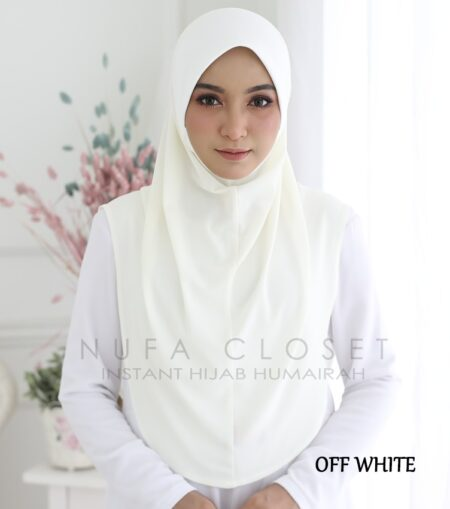 Instant Humairah Exclusive - Off White