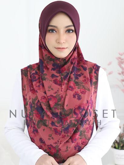 Tudung Labuh Muslimah Berdagu Aisyah Exclusive XL - A-199