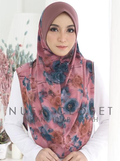 Tudung Instant Muslimah Berdagu Aisyah Exclusive  - Amelia