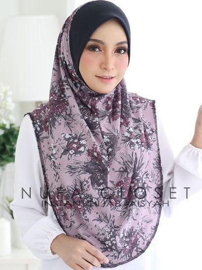Tudung Labuh Muslimah Berdagu Aisyah Exclusive XL - A-231