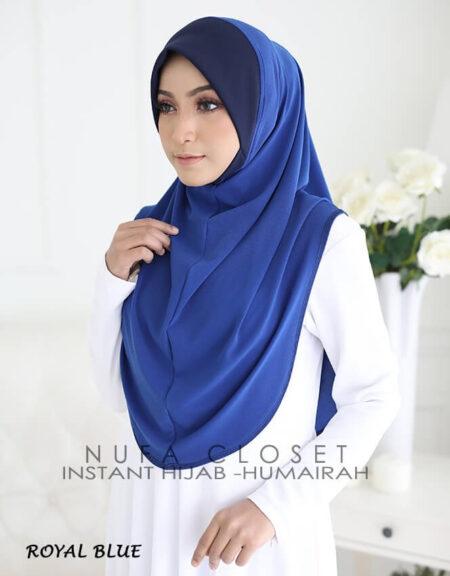 Tudung Instant XL Zinnirah Exclusive - Royal Blue