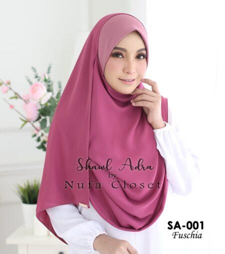 Instant Shawl Muslimah Adra – Fuschia