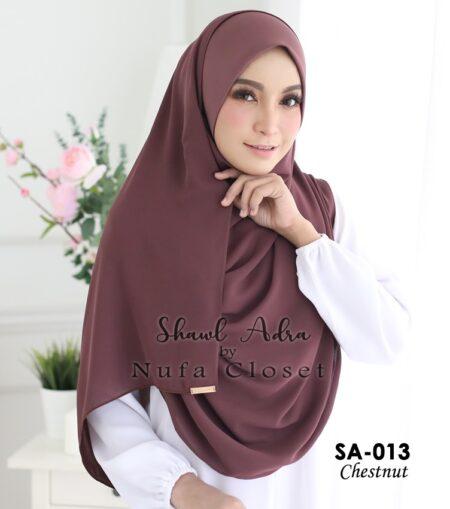 Instant Shawl Muslimah Adra – Chestnut