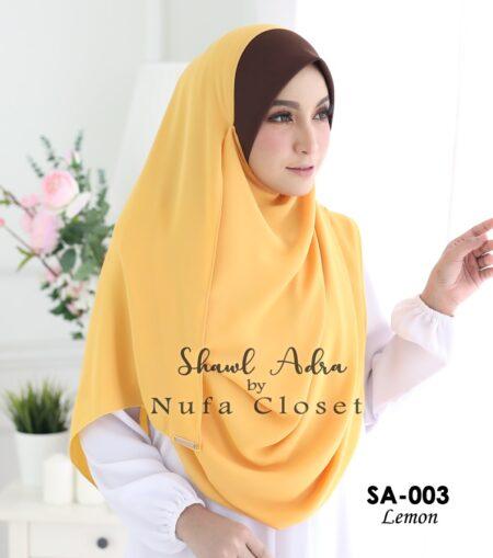 Instant Shawl Muslimah Adra – Lemon