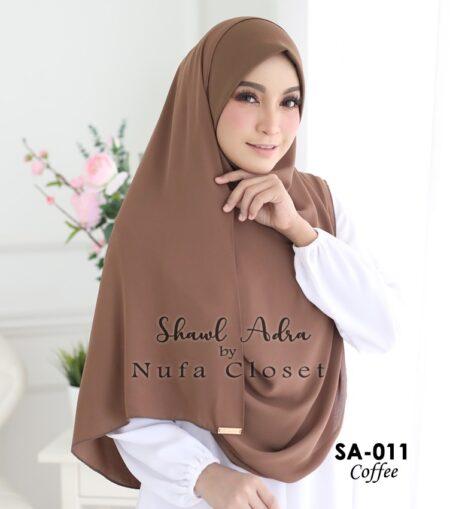Instant Shawl Muslimah Adra – Coffee