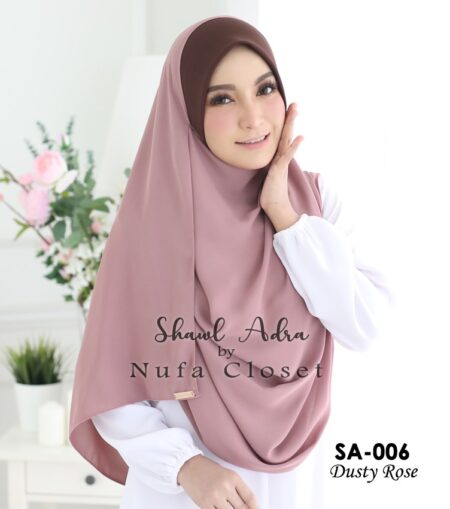Instant Shawl Muslimah Adra – Dusty Rose