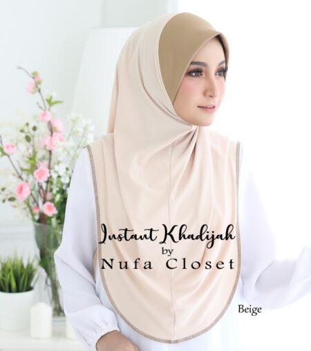 Tudung Instant Muslimah Khadijah - Beige