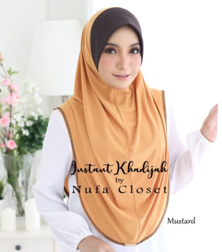 Tudung Instant Muslimah Khadijah - Mustard