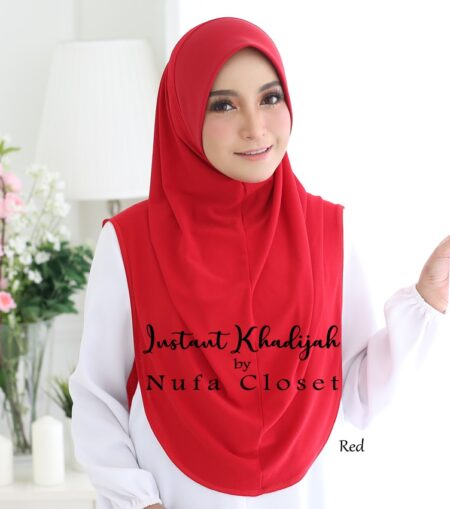 Tudung Instant Muslimah Khadijah - Red