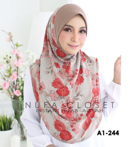 Tudung Labuh Muslimah Berdagu Aisyah Exclusive XL - A1-244
