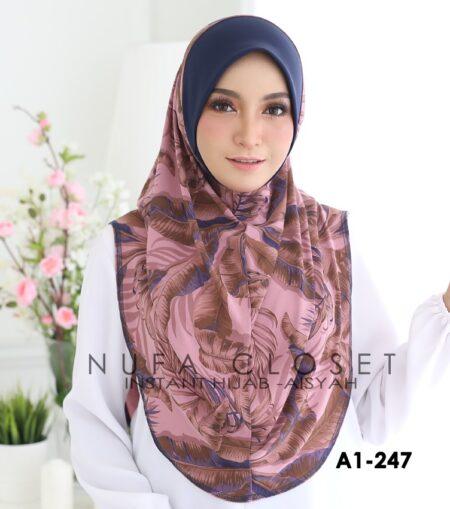 Tudung Labuh Muslimah Berdagu Aisyah Exclusive XL - A1-247