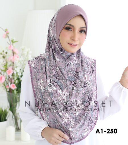 Tudung Labuh Muslimah Berdagu Aisyah Exclusive XL - A1-250