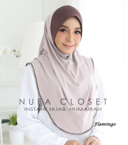 Instant Humairah Exclusive - Flamingo