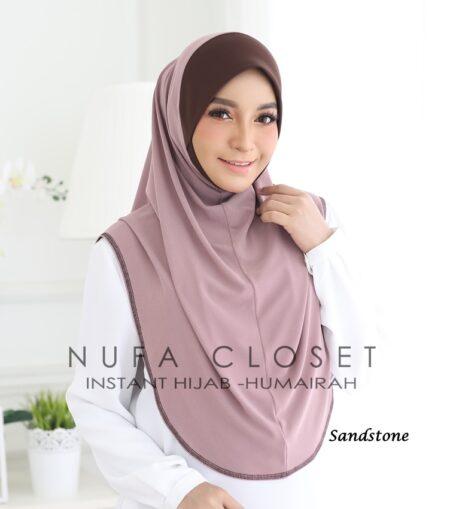 Tudung Instant XL Zinnirah Exclusive - Sandstone