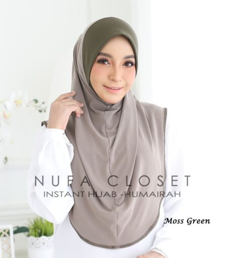 Instant Humairah Exclusive - Moss Green