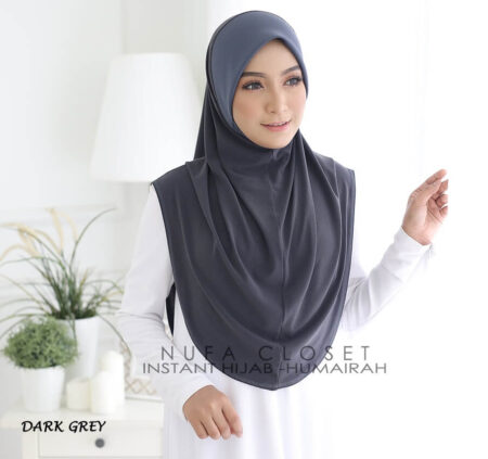 Instant Humairah Exclusive - Dark Grey