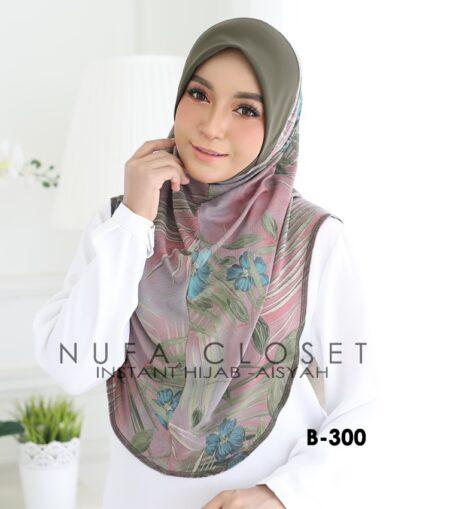 Tudung Labuh Muslimah Berdagu Aisyah Exclusive XL - A1-300
