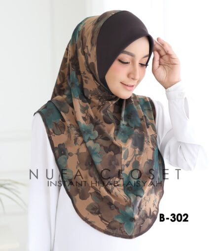 Tudung Labuh Muslimah Berdagu Aisyah Exclusive XL - A1-302