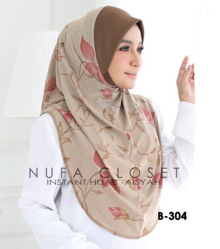 Tudung Labuh Muslimah Berdagu Aisyah Exclusive XL - A1-304