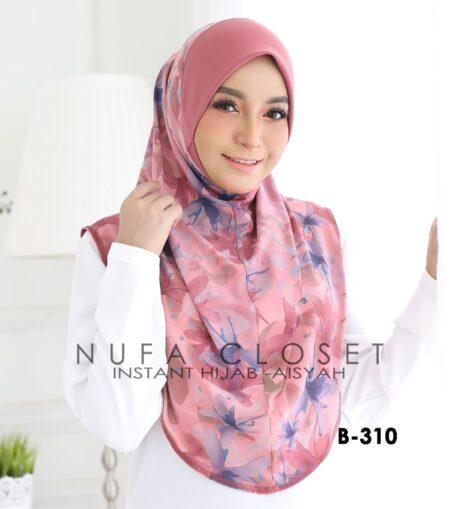 Tudung Labuh Muslimah Berdagu Aisyah Exclusive XL - A1-310